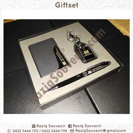 Souvenir Giftset Bulpen Gantungan Kunci Tumbler Agenda Flashdisk