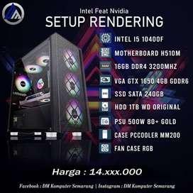 PC Gaming Intel I5 10400F VGA GTX 1650 4GB SSD 240GB HDD 1TB Ready