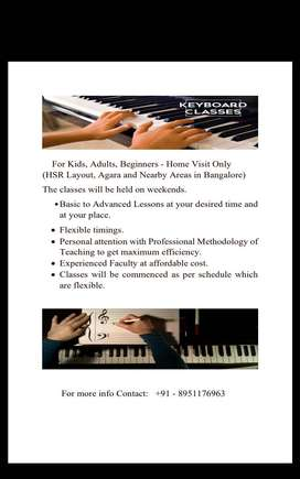 Music Classes at home - Keyboard