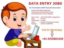 Immediate job opening for data entry typing operators with typists