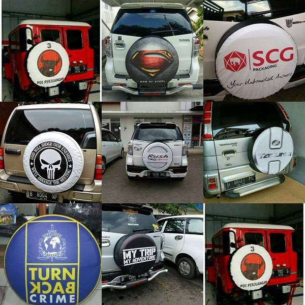 Cover/Sarung Ban mobil konde Jimny/Rush/Terios/Everest Aja Sekarang Ga 0