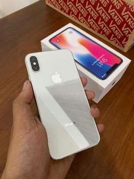 Iphone x 64gb warna silver