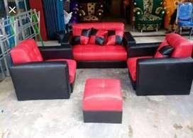 Promo harga sofa minimalis 211 + meja kaca banyak warna stok r