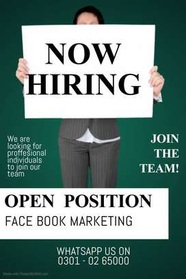 BFES needs talented students for face book marketing work