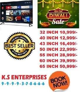 diwali sale offer 60% off 40 inch 4k full smart full android led tv