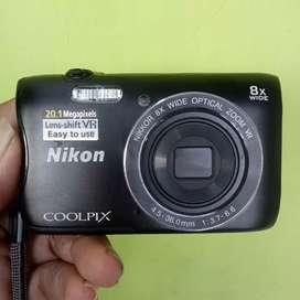 Nikon S3700 20mp Wi-Fi Fullset mulus