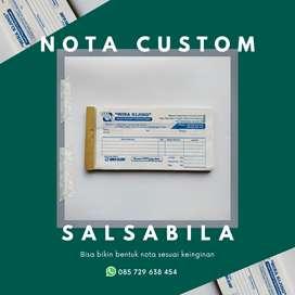 Cetak Nota Custom NCR 2Ply / Rangkap 2 1/4 Folio   Horizontal