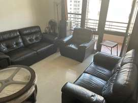 Half leather sofa 3+2+1