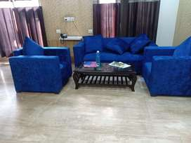 Fully furnished flat with all modular kitchen, fans, lights , sofa, TV