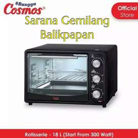 Terbaik Cosmos Co9918R Oven Toaster 18 Liter With Rotisserie 600 Watt