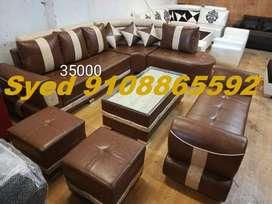 Top design new l shape fabric corner sofa 3 year warranty Cal YU 35