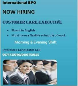 Immediate requirement male and female for CALL CENTER