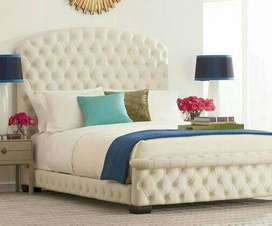 brand new white full cullting desigen king size bed without side table