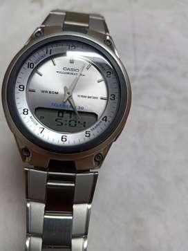 Casio men's digital analog metal watch