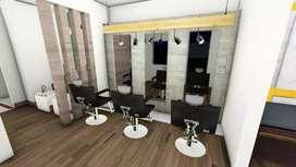 Male hairdresser for unisex salon