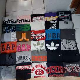 Borongan sweater hoodie branded import,cocok buat anak hype