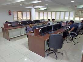 30 Seating Office For Rent Fully Furnished In Navrangpura