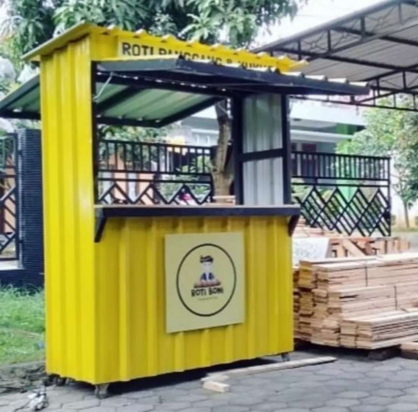 BOOTH SEMI CONTAINER UNTUK FRANSCHISE,WARALABA,UMKM,TAKJIL DLL 0
