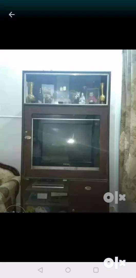 TV CABINET WITH GLASS CABINETS 0