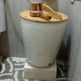 Bah mandi minimalis + tutup dan gayung jati jepara