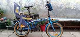 Jual Folding Bike Exotic Uk'20 + Kursi Boncengan Anak