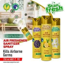 Air freshener+ sanitizer... Kill gems and bacteria