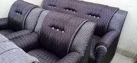 Sofa set five seater black
