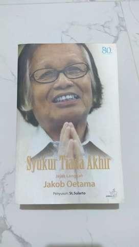 Buku Syukur Tiada Akhir Spesial Tanda Tangan Alm. Bp Jakob Oetama