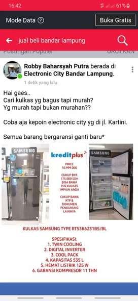Kulkas Samsung inverter besar 2 pintu