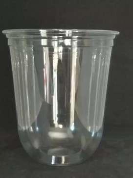 Diskon Murah CETAK LOGO (GELAS CUP PLASTIK OVAL PP) 12oz 8gram