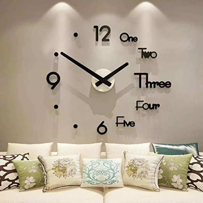 Acrylic DIY mirror wall clock quartz clocks for Bedrooms Home 0