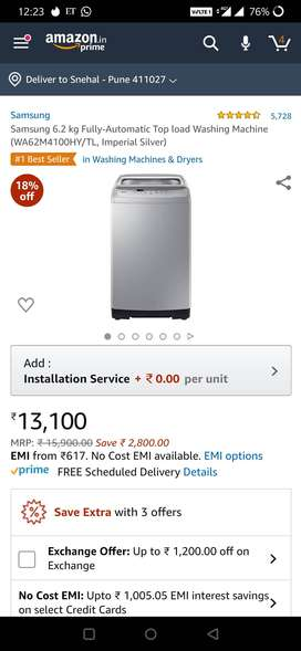 Samsung Washing Machine Top Load Fully Automatic