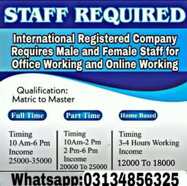 Part time work opportunity in an international company