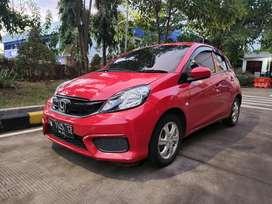 TotalDP 15 Juta Honda brio 1.2 S manual 2017 Merah Facelift