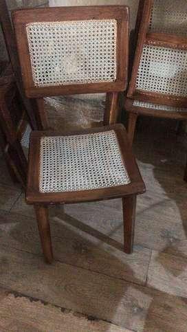 Rattan Back Chair