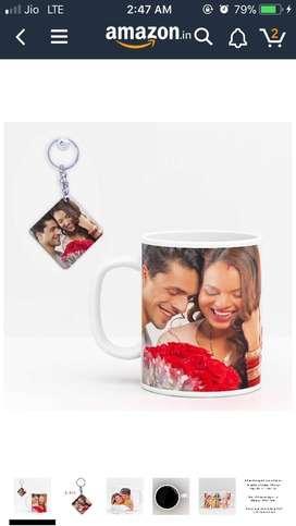 Customized with photo mug..