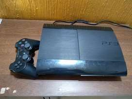PS3 Slim 12 GB with external hard drive