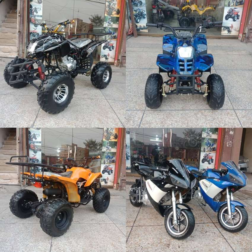 Complety Variety 50cc To 250cc Atv Quad 4 Wheel Bike Deliver In All Pk 0