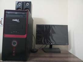LG monitor and cpu is assembled in which there is 2 GB RAM, 500GB h.d.