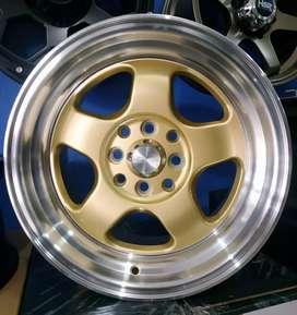 Jual velg racing Ring 15 Untuk mobil Brio, agya, datsun, (bisa credit)