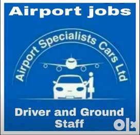 Hiring in airport driver and ground staff job