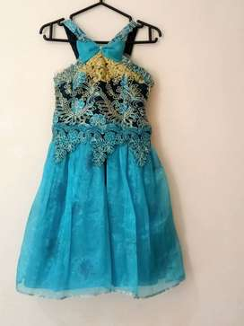 dress anak biru frozen , cocok usia 9 sd 11 th