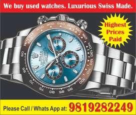 Rolex Day tona We Buy in Jabalpur Omega, Cartier Vacheron, Patek Watch