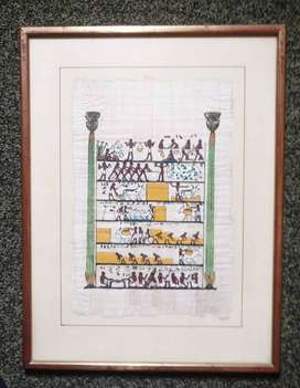 Egyptian Papyrus Painting.