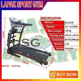 Alat Olahraga Fitness Treadmill Elektrik TL 630 Multi 3 Fungsi