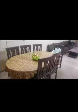 Wooden dining table 6 seater