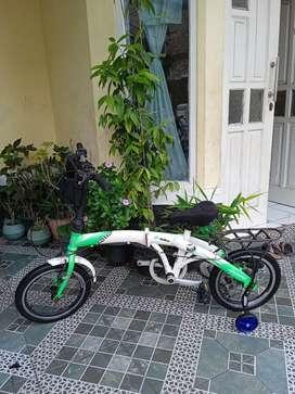 """Sepeda lipat exotic ukuran 16"""" speed 7 siap goes"""