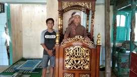 Mimbar masjid ukiran mewah real pict