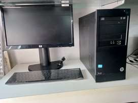 For Sale HP Pro 3230 Micro Tower + HP 19 Inch Monitor With Accessories