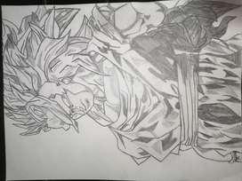 Goku drawing pencil sketch